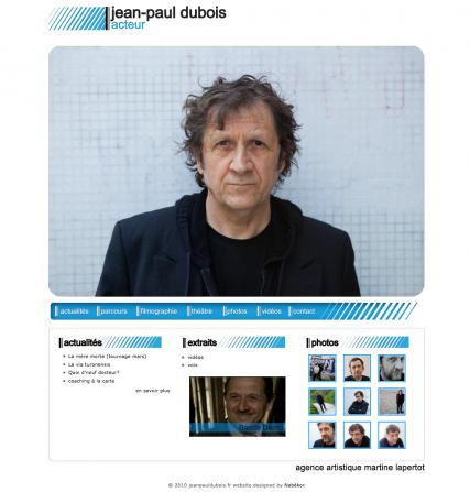 jeanpauldubois.fr, acteur